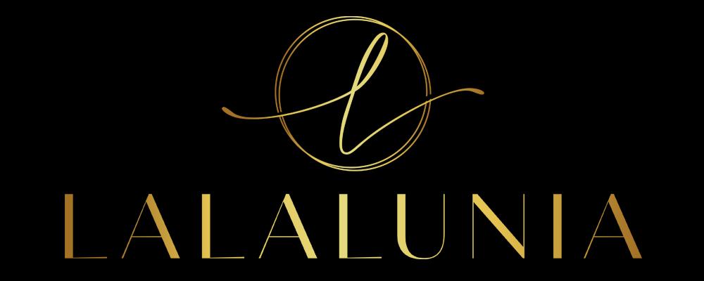 LALALUNIA Logo schwarz gold